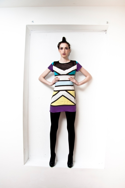 Ndebele Wall Art Silk Dress (B) by Chinedesign