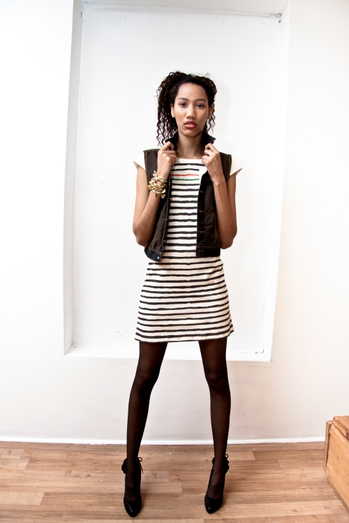 Black Star Nautical Dress + Afropunk Denim Jacket by Chinedesign